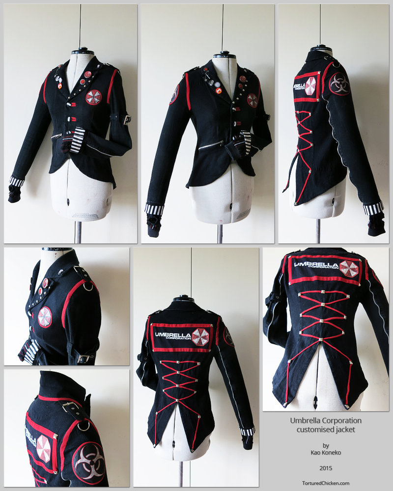 Umbrella Corp custom jacket by KaoKoneko 800x1000