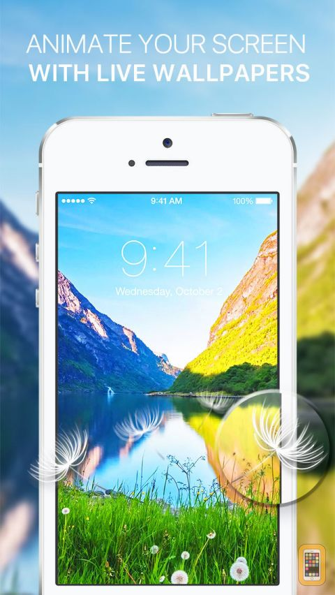 Dynamic Animated Screen with Moving Background for iPhone 6s 6s plus 480x852