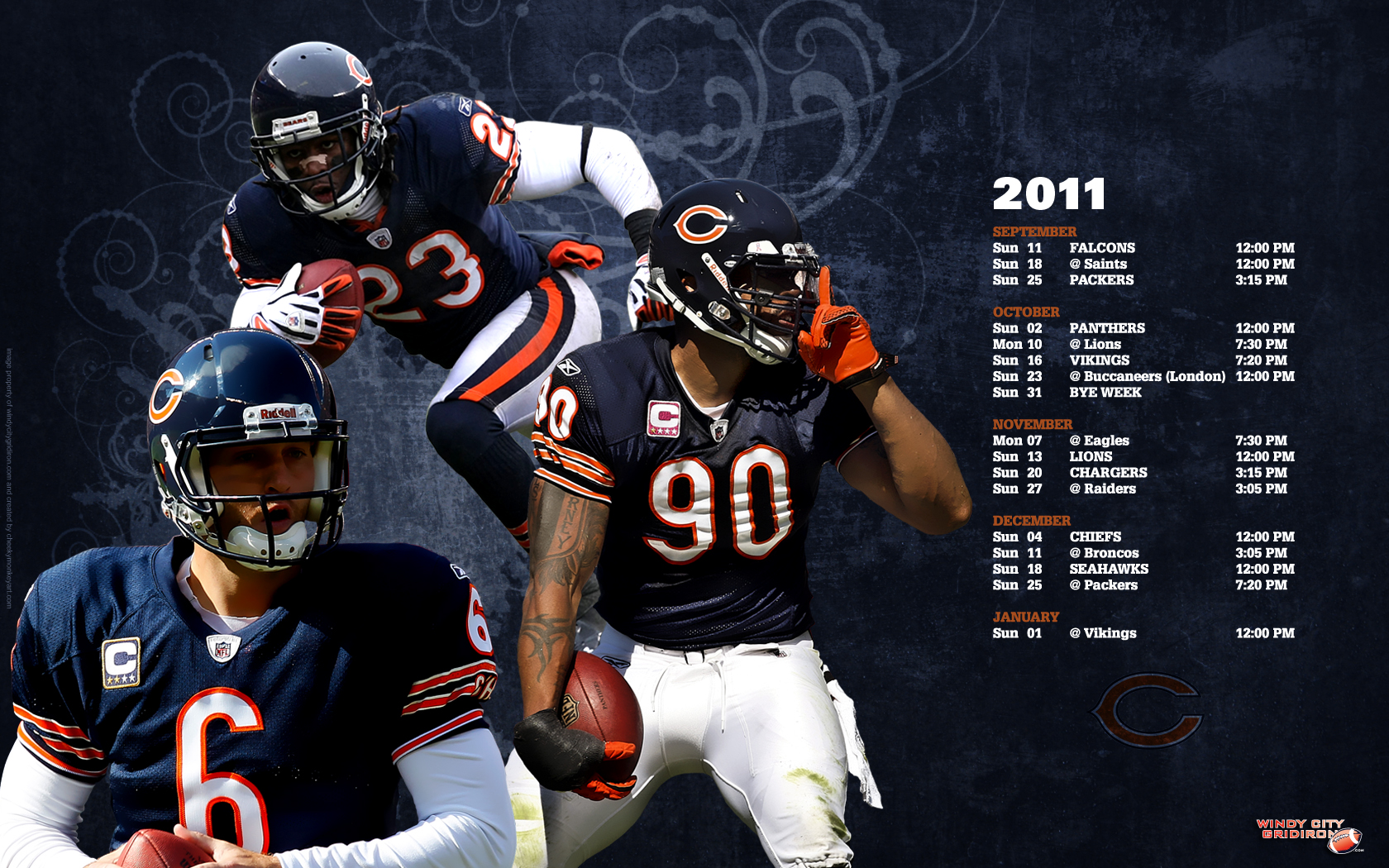 Background of the day Chicago Bears wallpaper Chicago Bears 1680x1050