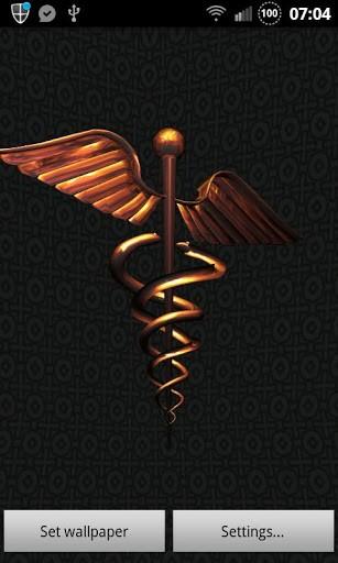 View bigger   3D Caduceus Medical Wallpaper for Android screenshot 307x512