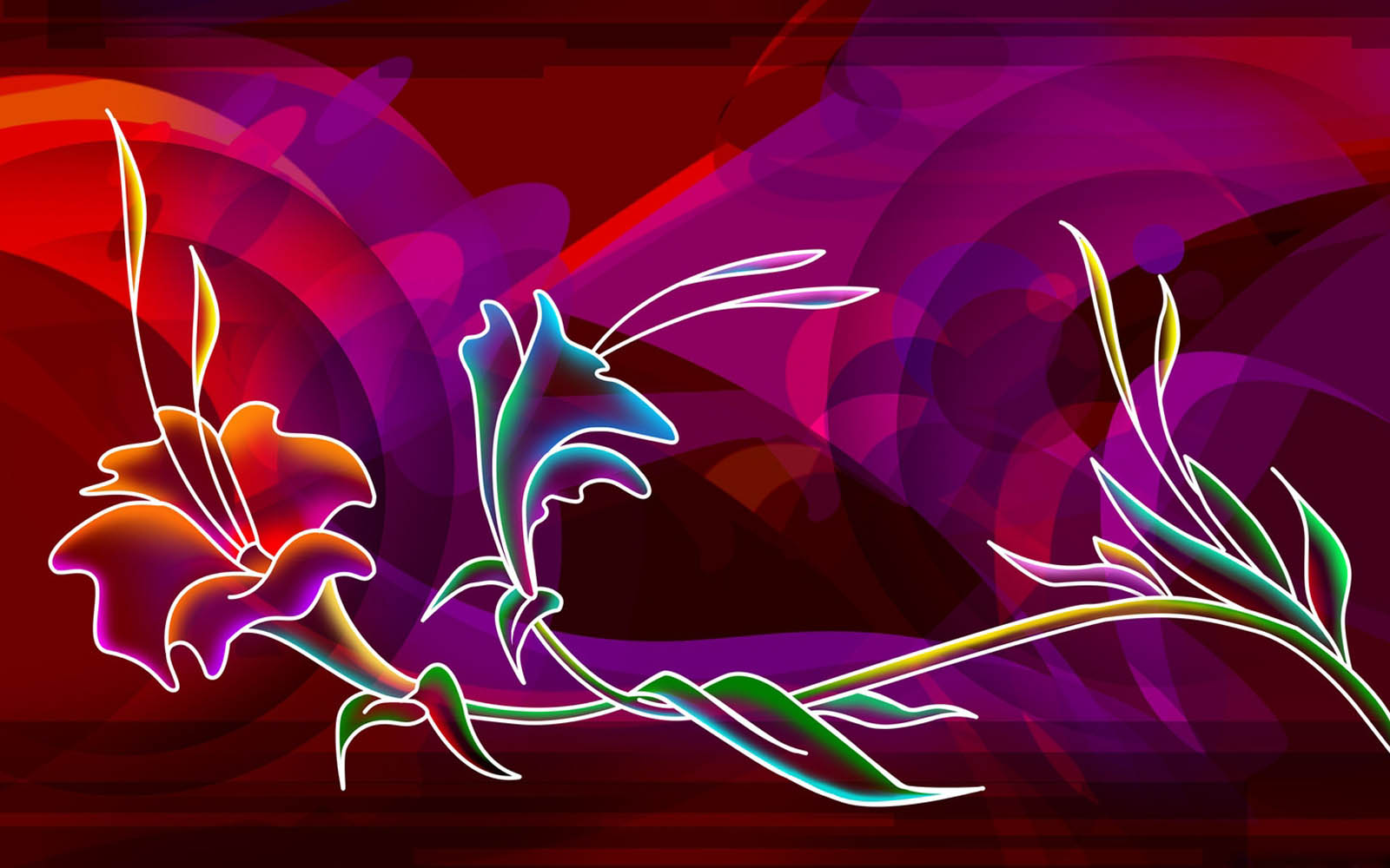 Neon Art Wallpapers Desktop Wallpaper 1600x1000