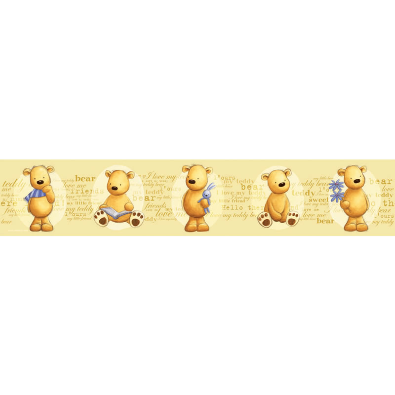 Details about Teddy Bears   4 Self Adhesive Wallpaper BORDER DecoFun 800x800