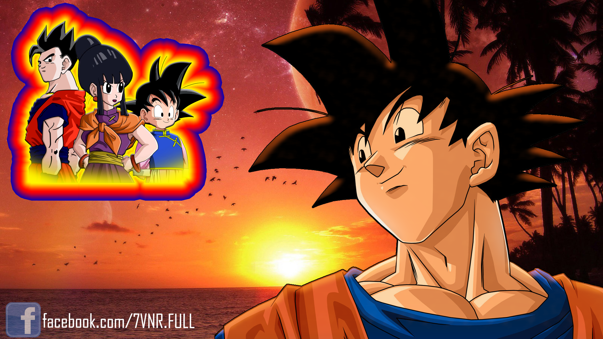 Goku Chichi Gohan and Goten   The family by Pi Eyz 1920x1080