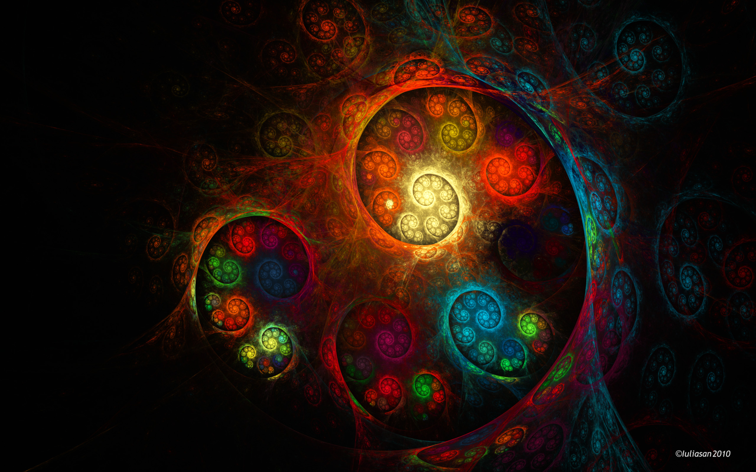 fractal wallpaper background 2560x1600