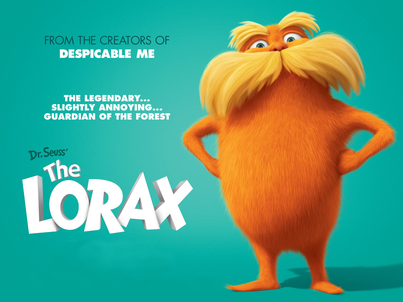 Dr Seuss The Lorax Movie computer desktop wallpapers pictures 1600x1200