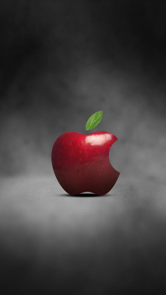 Free Download Red Apple Logo 02 Iphone Wallpapers Iphone