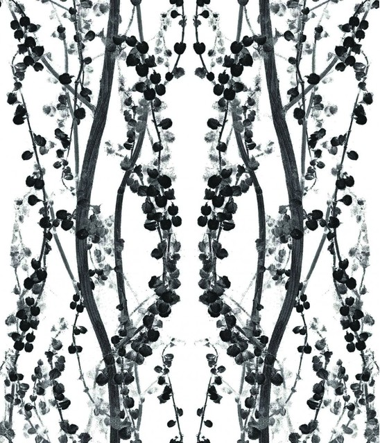 BRANCHES Self Adhesive Removable Wallpaper Black and White 85 548x640