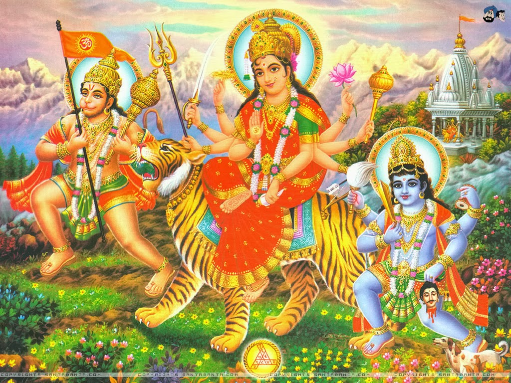 ALL IN ONE WALLPAPERS Goddess Durga HD Wallpapers 1024x768