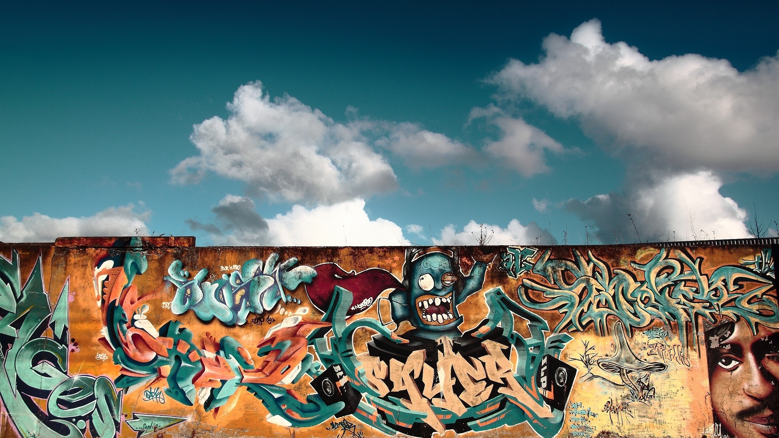 Graffiti Wall Art Mac Wallpaper Download Mac Wallpapers 2560x1440