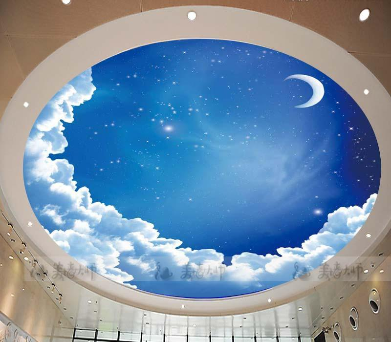 Free Download Star Ceiling Circular Woven Wallpaper Ceiling