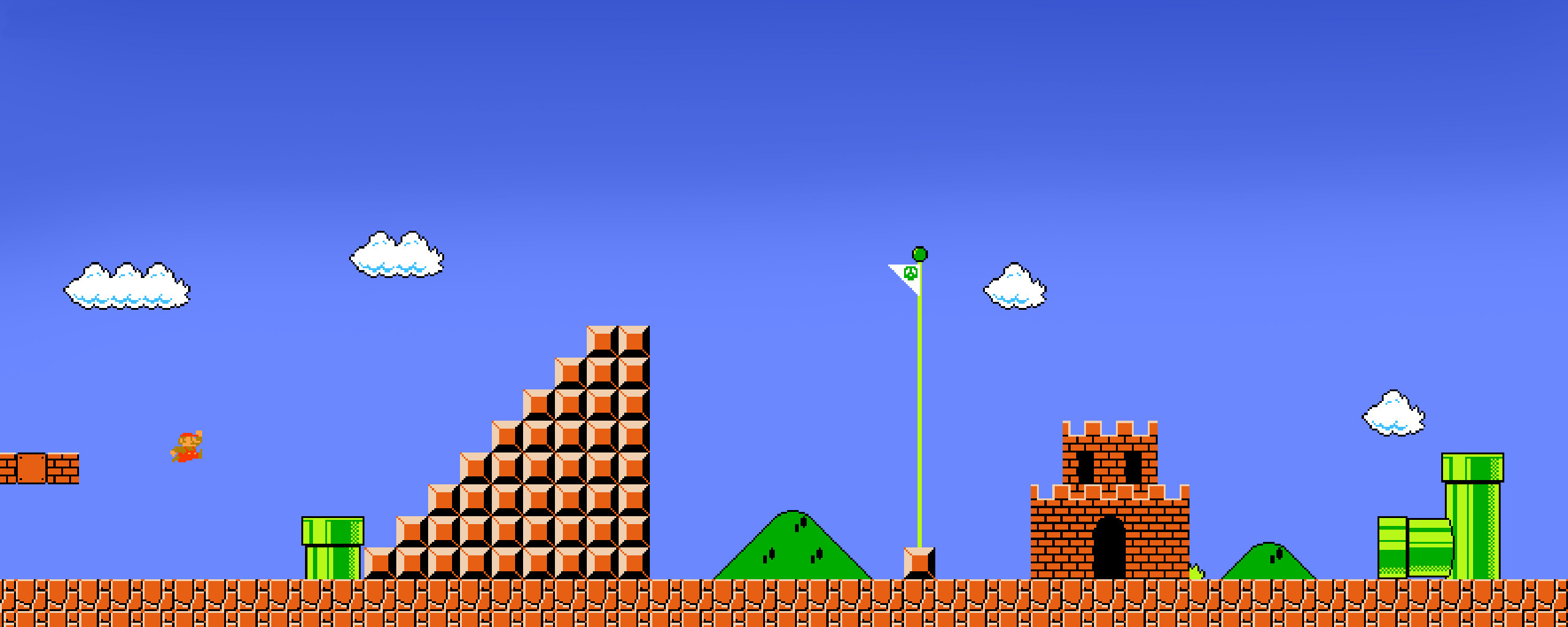 Mario bros background   SF Wallpaper 2560x1024