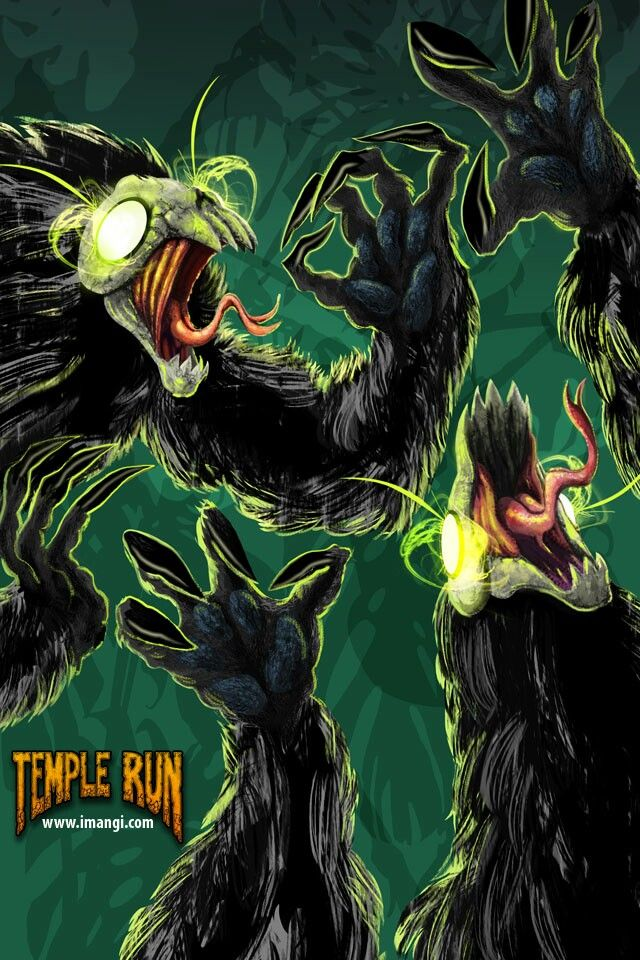Evil demon monkey temple run wallpaper 640x960