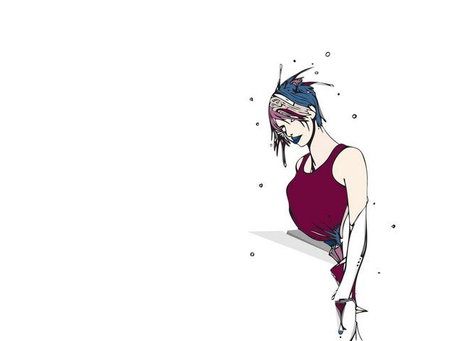 tough girl from somewhere Wallpaper Walltor 640x480