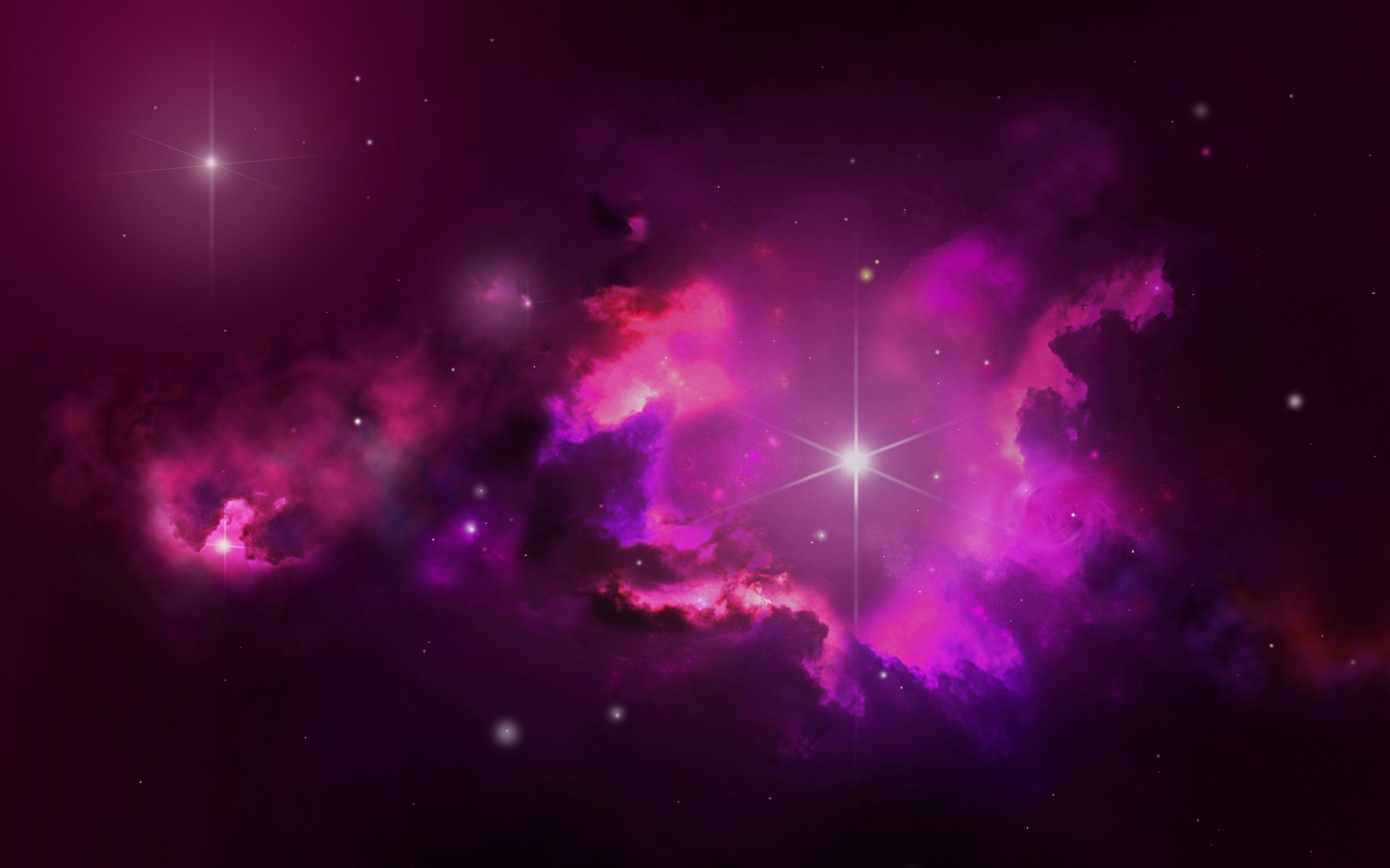 1920x1200 Pink Outer Space amp Stars desktop PC and Mac 1920x1200