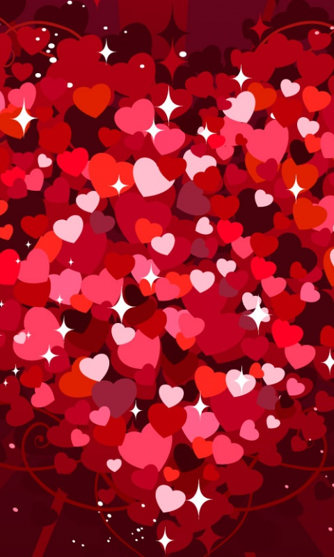 Tags Valentine Hearts 480x800 wallpaper480X800 wallpaper screensaver 480x800