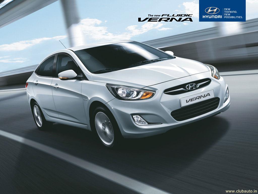 Wallpapers Cars Hyundai Verna Fluidic Hyundai Verna 1024x768