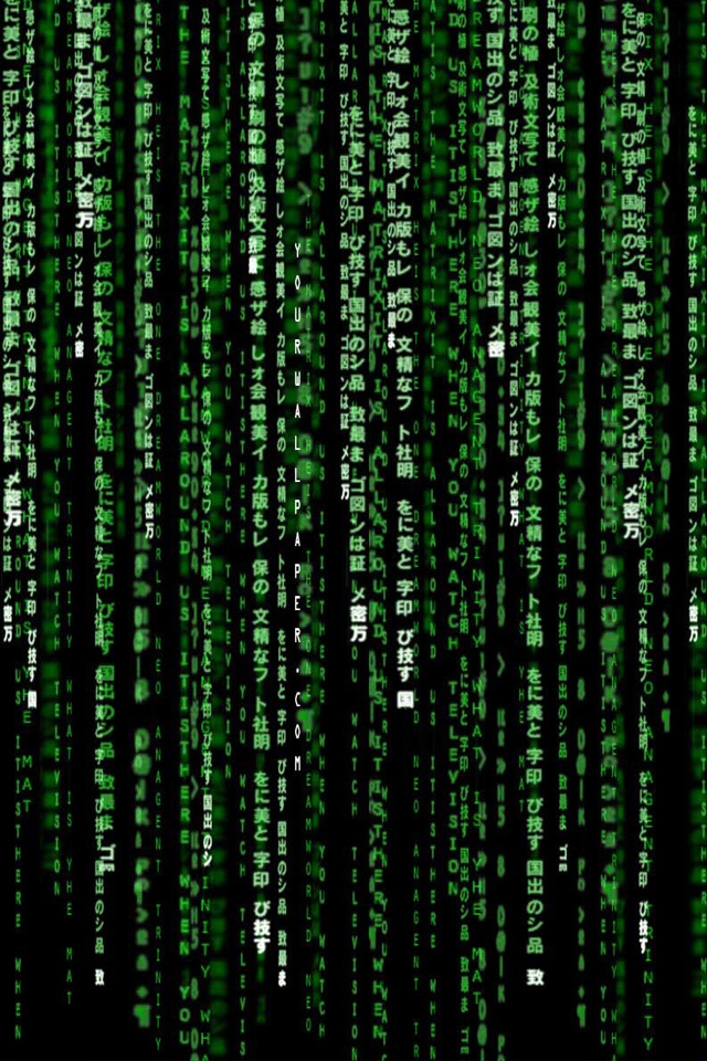 Matrix Code iPhone HD Wallpaper iPhone HD Wallpaper download iPhone 640x960