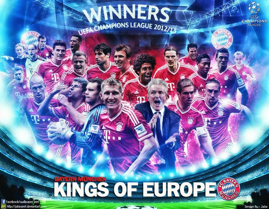 Bayern Munich Champions League wallpaper 2013 by jafarjeef on 1024x797