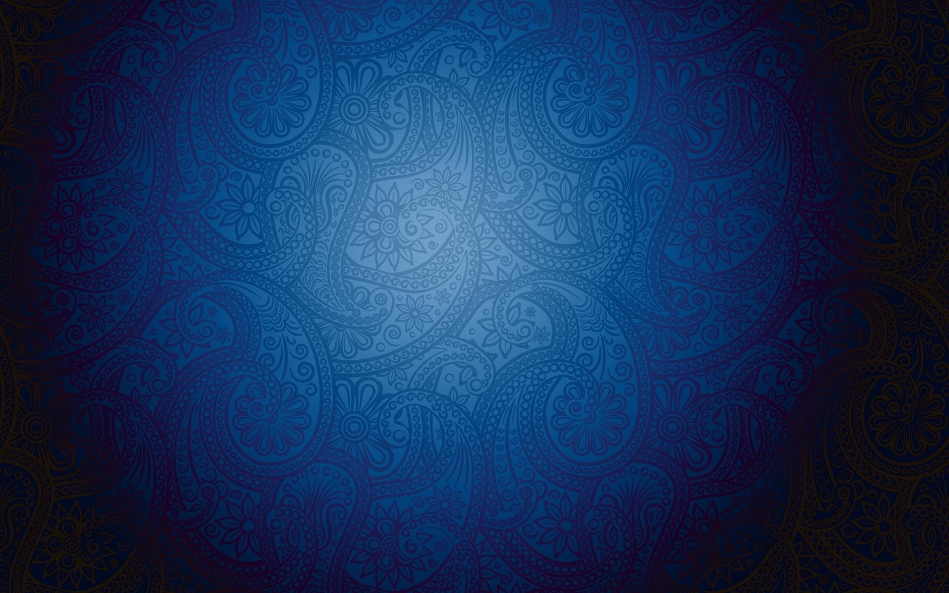 Blue minimalistic patterns paisley wallpaper background 1920x1200