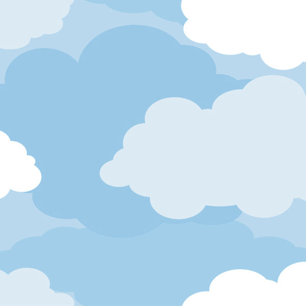 Cloud Sidewall Prepasted Wallpaper   Wall Sticker Outlet 600x600