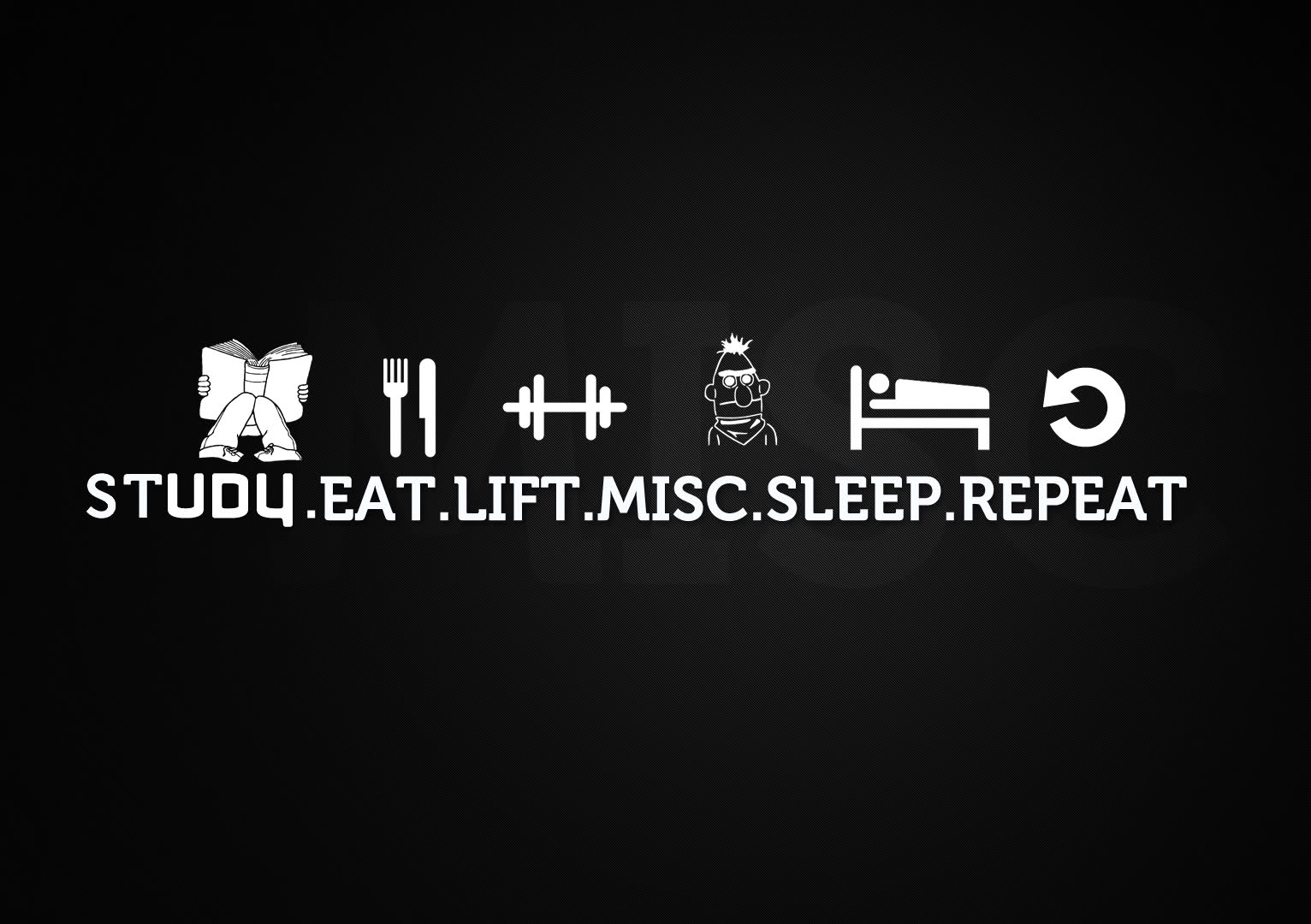 Beast Motivation Study eat lift misc sleep repeat 1532x1080