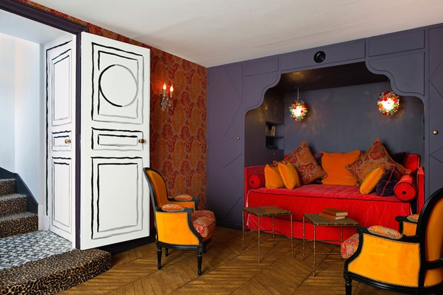 Wallpaper and Paint Feature Wall Ideas   Living Room Walls 639x426
