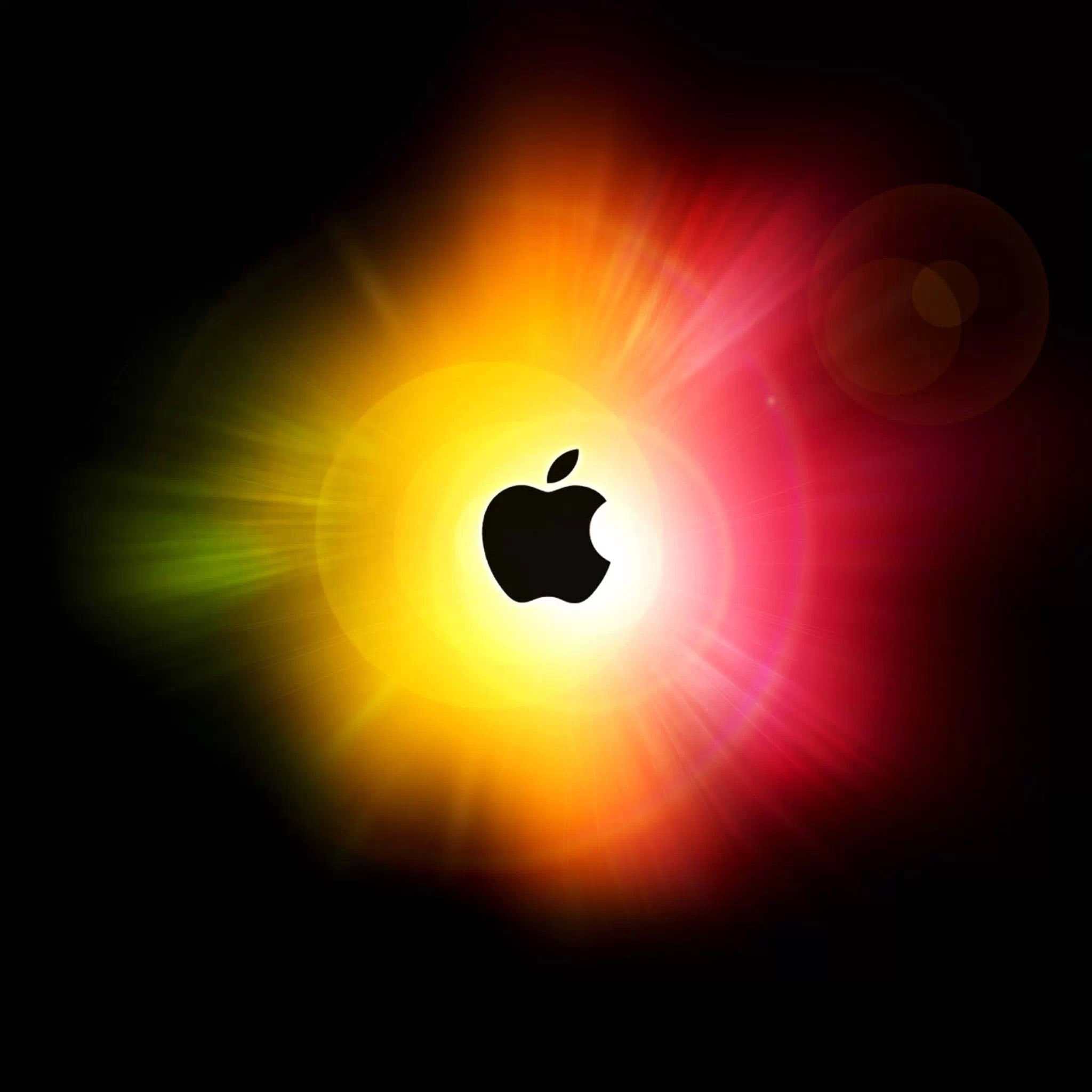 iPad Wallpapers Glowing apple logo   Apple iPad iPad 2 iPad mini 2048x2048