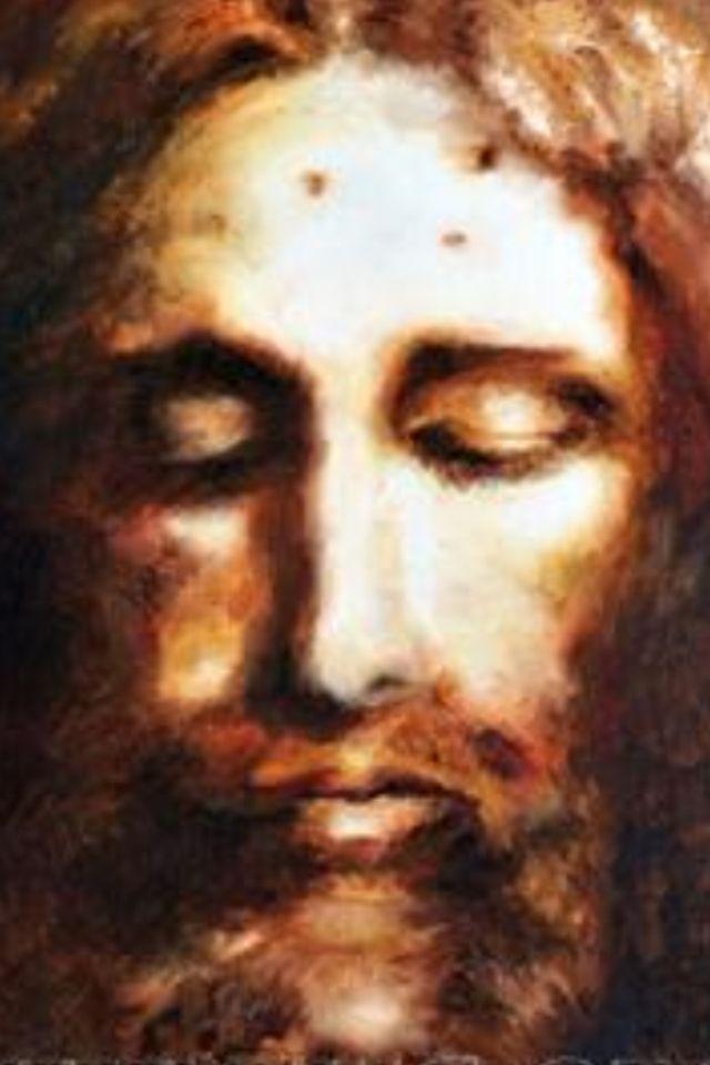 Jesucristo Wallpaper   Jesus Shroud Of Turin Painting Hd 640x960