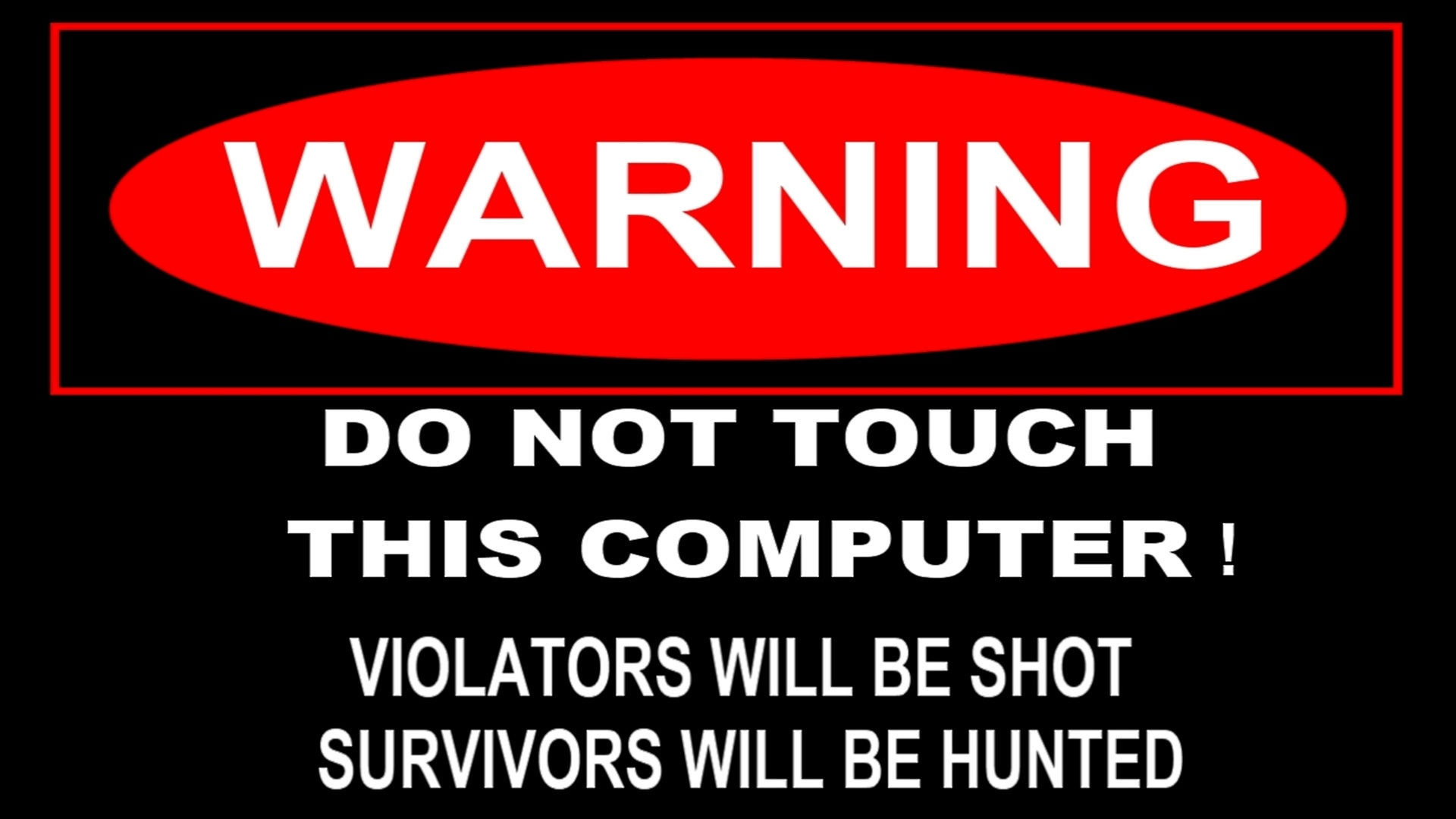Warning sign wallpaper 5407 1920x1080