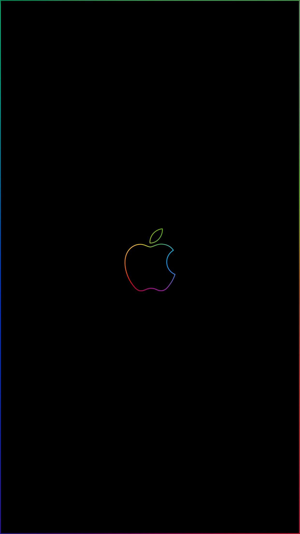 Rainbow border apple logo iPhone wallpapers Imgur links iphone 1242x2208