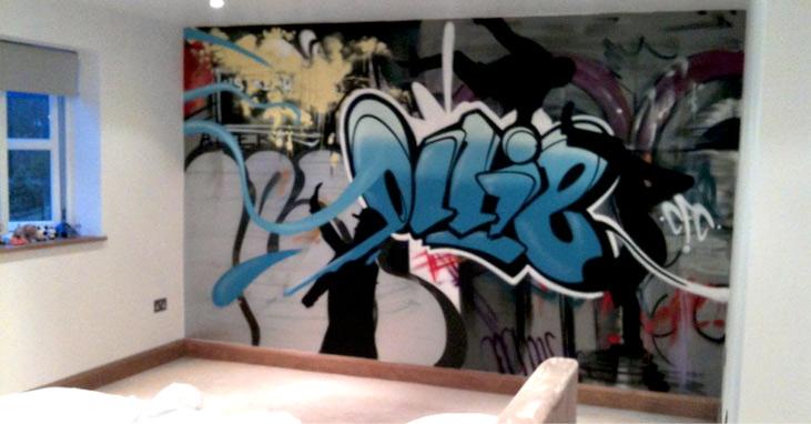 Graffiti Bedroom Decoration On The Wall 731x382