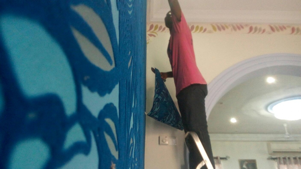 Wallpaper installation Burma Camp olxcomgh 1000x562