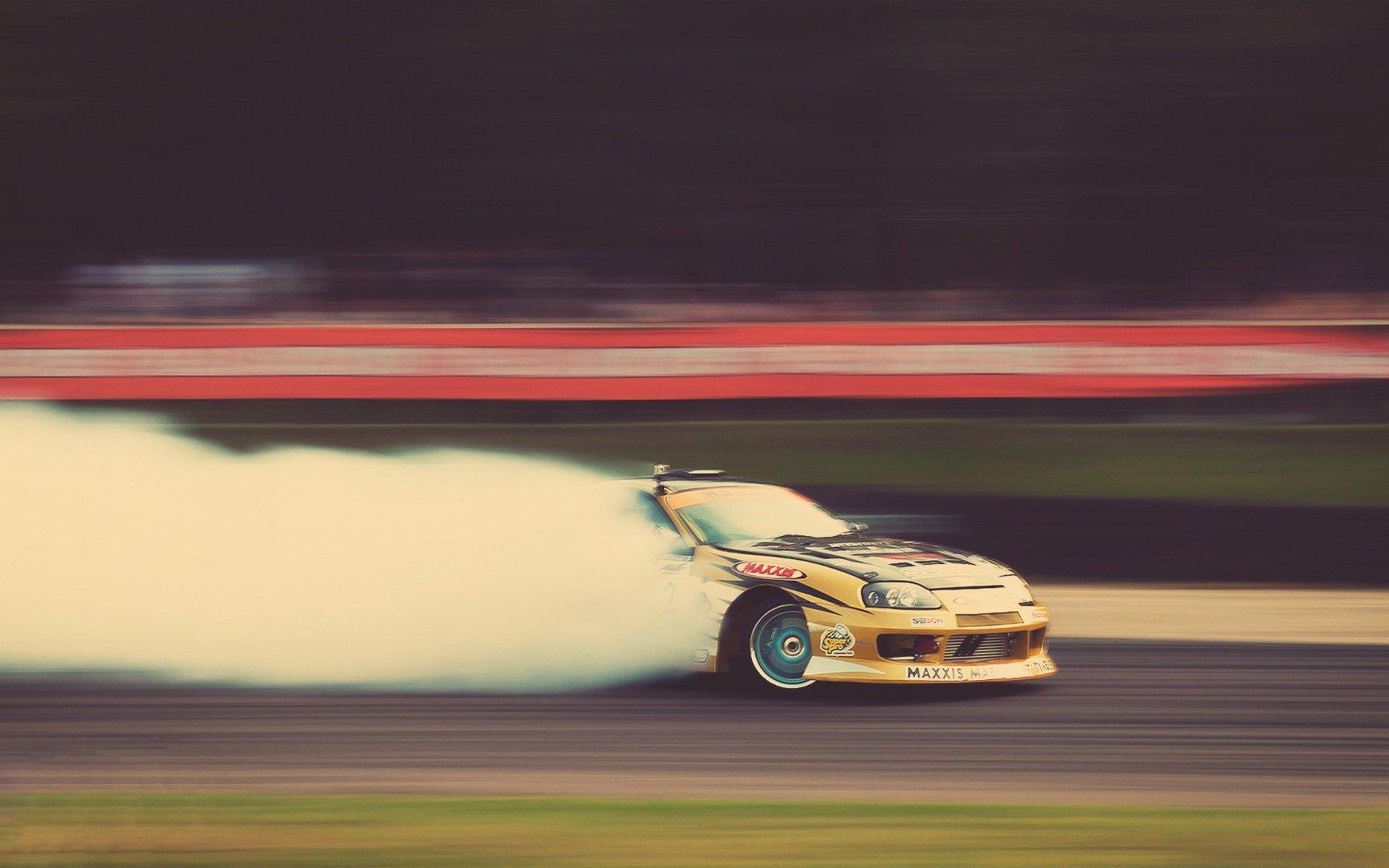 Cars smoke tuning Toyota Supra drifting wallpaper 1920x1200 234020 1920x1200