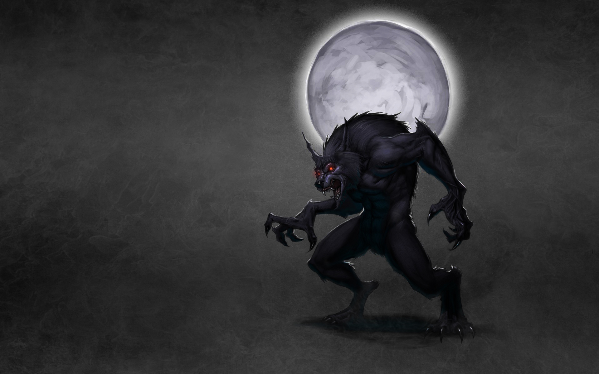 Wallpaper wolf wolf werewolf moon werewolf dusky background 1920x1200