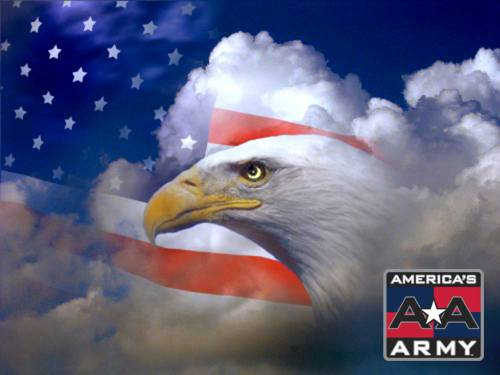 Wallpaper image American Eagle and Flag Wallpaper Mixed Style Photo 500x375