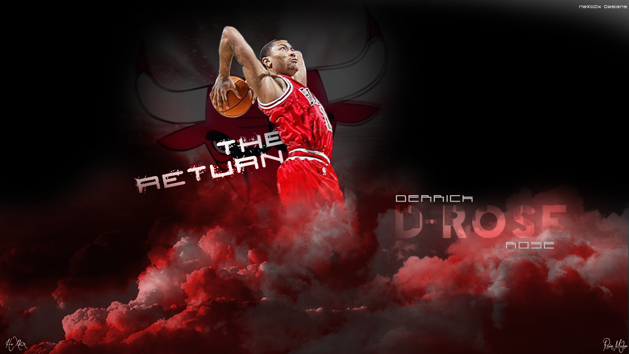derrick rose wallpaper art by haxb0x by haxb0x customization wallpaper 1280x720
