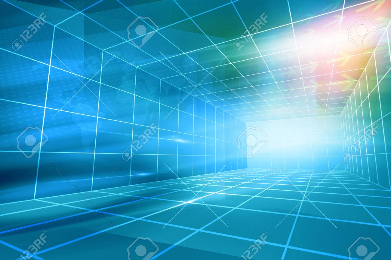 Futuristic Modern Hightech Enclosed News Studio Background 1300x866