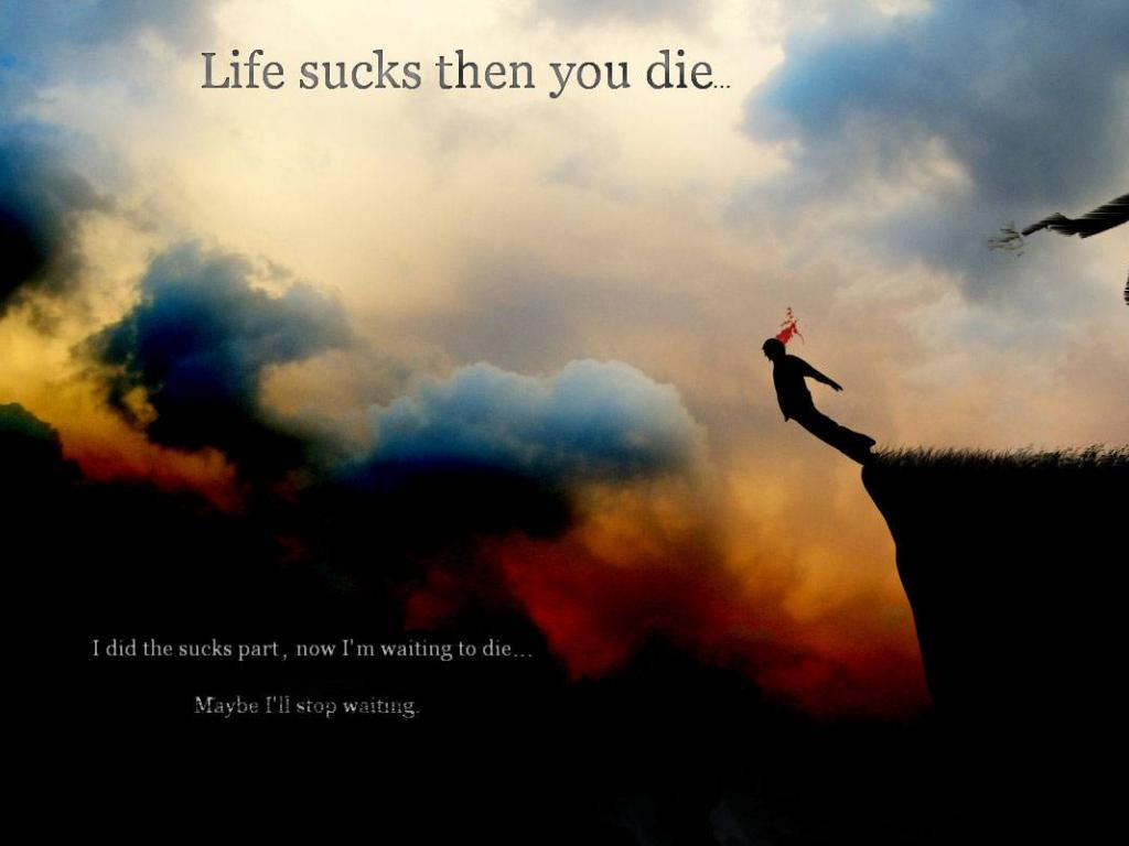 Life sucks then you die copy wallpaper HQ WALLPAPER   13569 1024x768