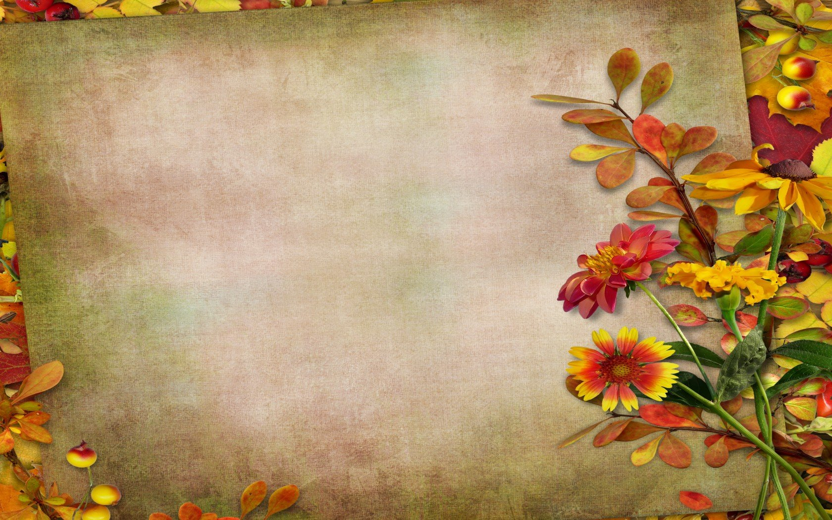38 Autumn Flowers Desktop Wallpaper On Wallpapersafari