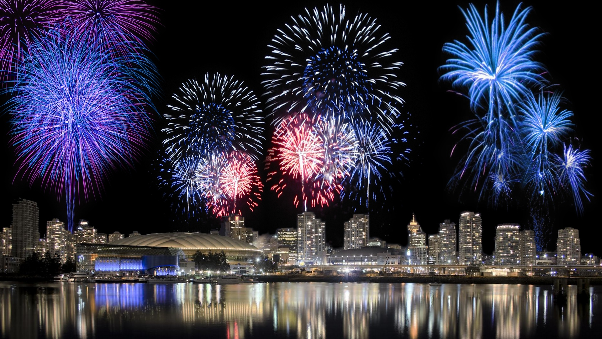 Download Animated Fireworks Background HD pictures in high definition 1920x1080