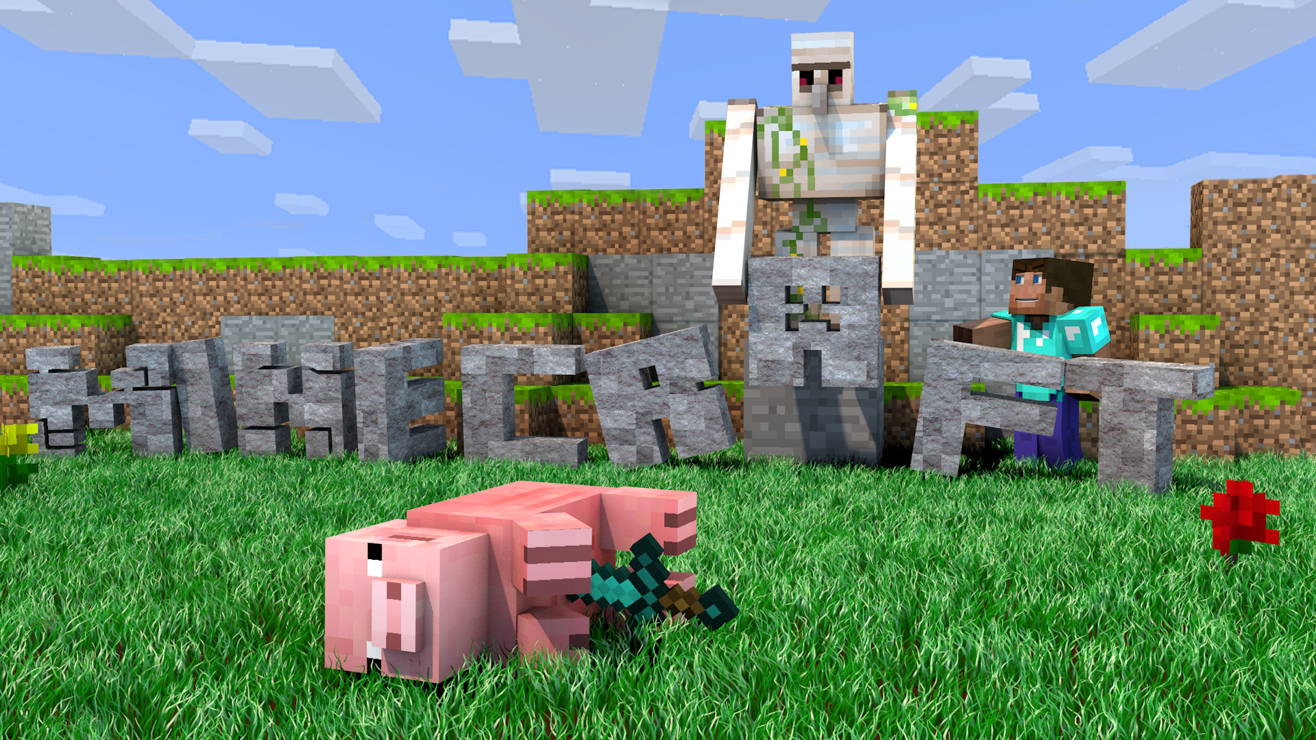 Minecraft Baby Pig Wallpaper Images Pictures Becuo 1920x1080
