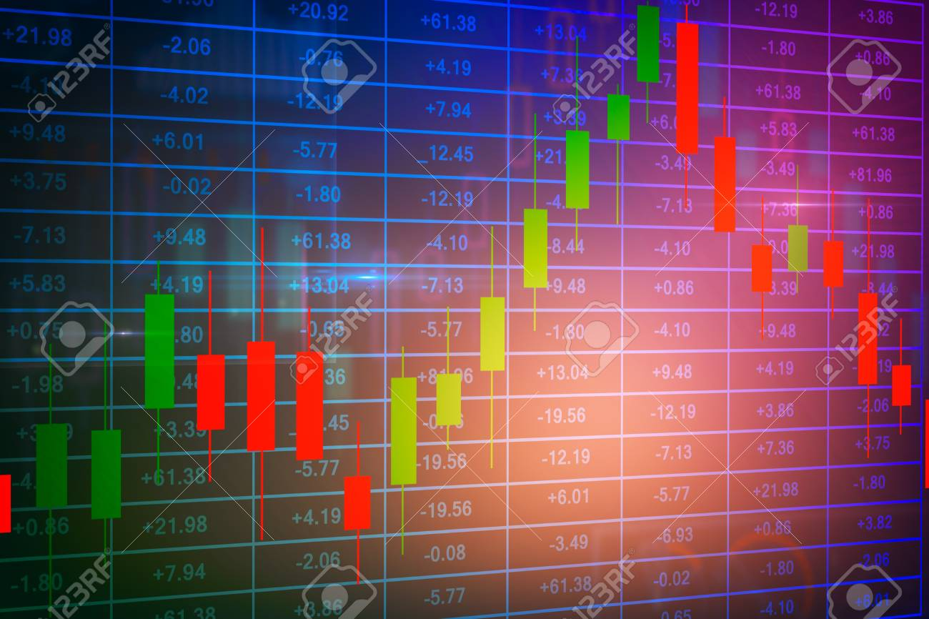 Colorful Forex Background Finance And Trade Concept 3D Rendering 1300x866