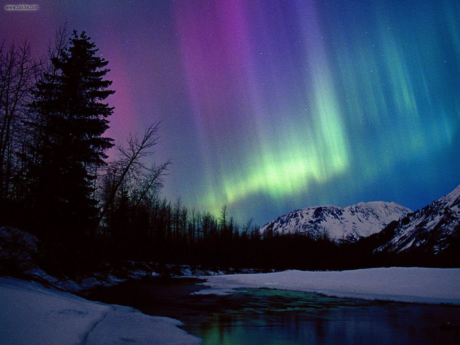 Northern Lights Wallpaper 1600x1200 Northern Lights Over Portage 1600x1200