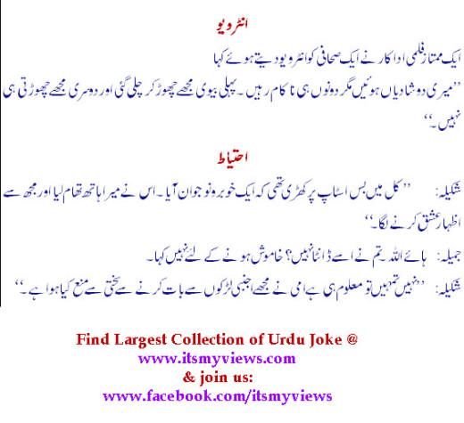 Latest Funny Urdu Jokes Collection 2013 itsmyviewscom 520x475