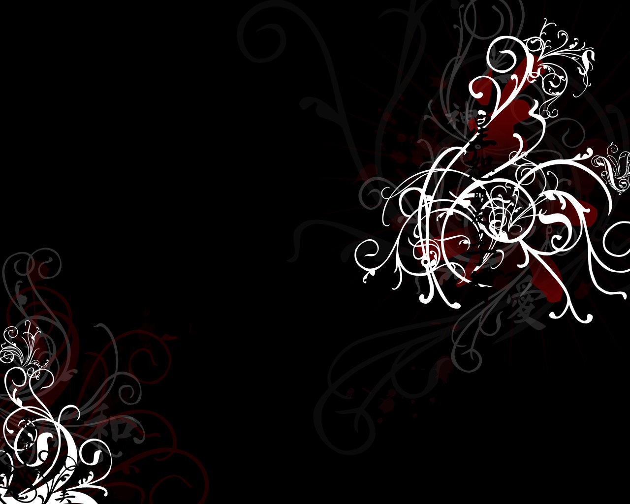 Black Chinese Wallpaper by Gvendolin 1280x1024