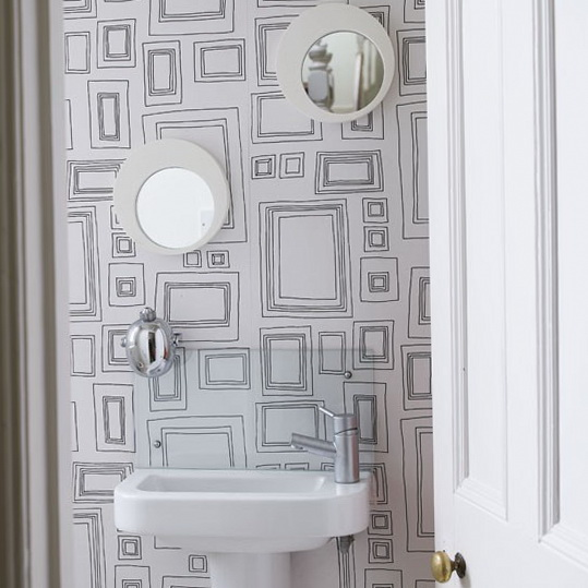 bathroom for family best ideas Have fun with wallpaper 300x300 7 539x539