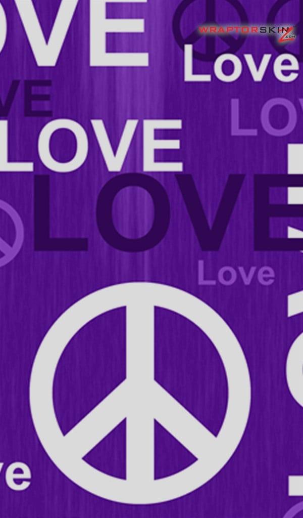 Amazon Kindle Fire Original Decal Style Skin   Love and Peace Purple 600x1024
