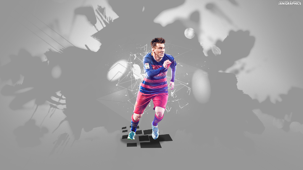 Lionel Messi Wallpaper by JaniGraphics 1024x576