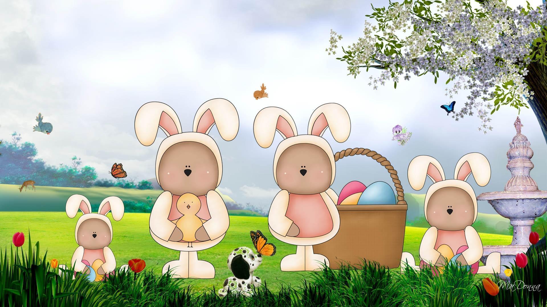 Easter Bunny Desktop Wallpapers 1920x1080