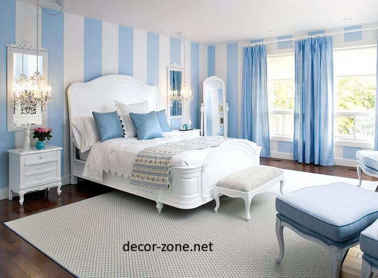 blue bedroom wallpaper for small bedrooms curtains furniture 736x541